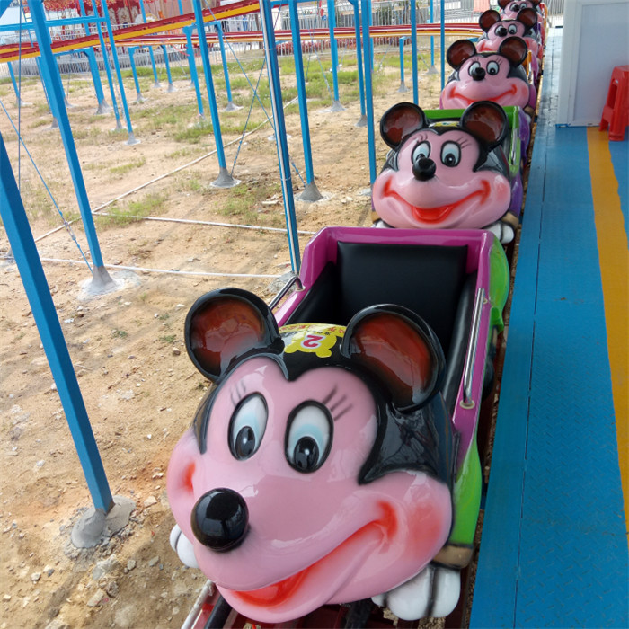 Crazy mouse roller coaster rides