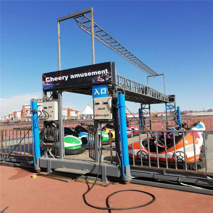 Trailer mounted bumper car