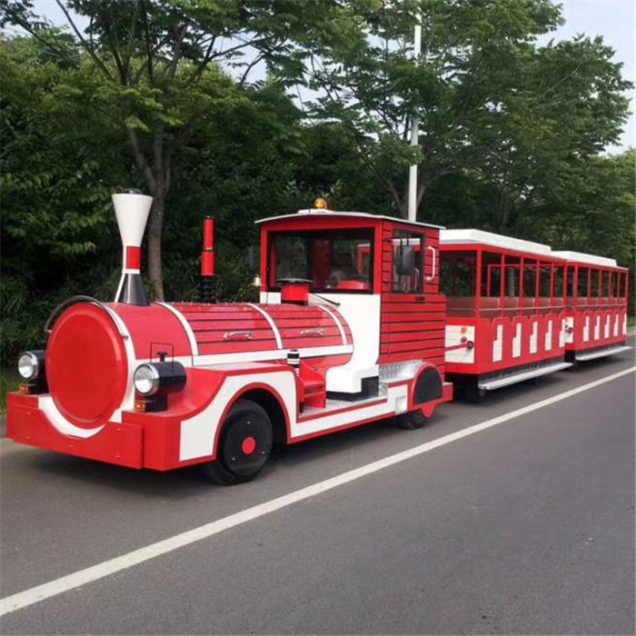 Outdoor amusement trackless train